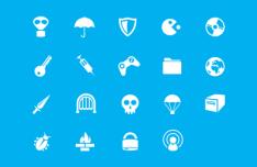 19 Minimal Vector Random Icons SVG
