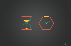 2 Time Icons Vector