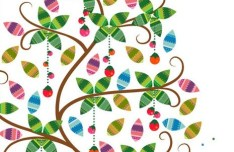 Colorful Tree Vector Illustration 01