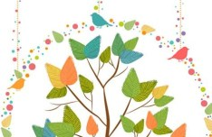 Colorful Tree Vector Illustration 02