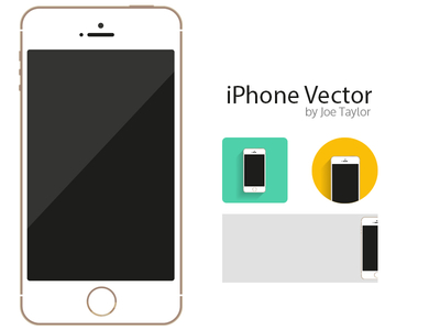 iPhone 5S Template & Icons Vector PSD