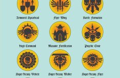 Apocalypse Unit Type Symbols Vector