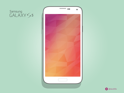 Samsung Galaxy S5 White Mockup