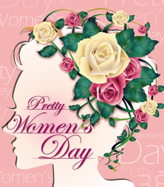 Pretty Women's Day Vector Background