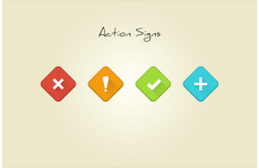 4 Action Signs PSD