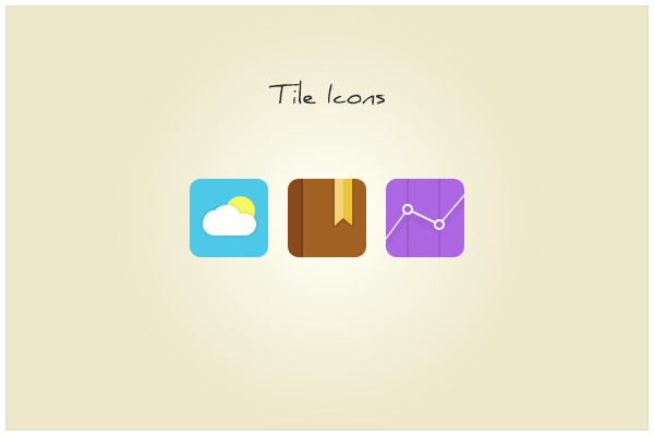3 Tile Icons PSD