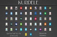 Ribbon Style Social Media Icons