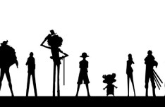 One Piece Characters Silhouette Vector