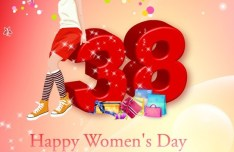 Women's Day Shopping Background Vector