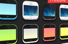 iPhone 5s and 5c Icons For iOS 7 PSD