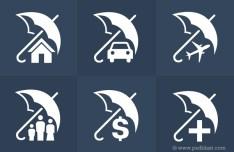 Insurance Icons Set PSD