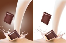 Milk & Chocolate Background Vector