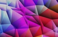 Sparkling Colorful Abstract Triangles Background Vector 02