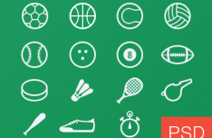Sport Glyph Icons Vector PSD