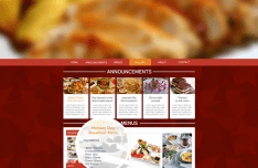 Yemekhane Restaurant Website Template PSD