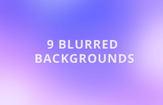 9 Blurred Backgrounds