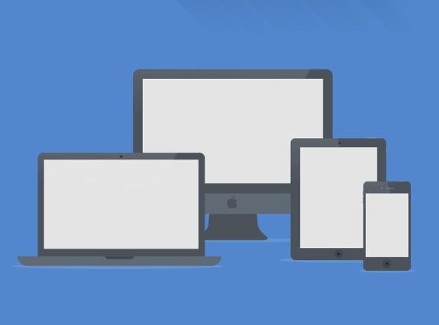 Flat Apple Device Mockups PSD