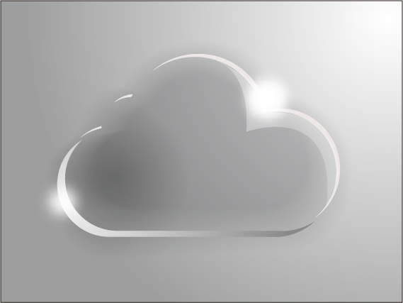 Glass Cloud Vector