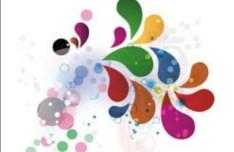 Colorful Abstract Petals Vector