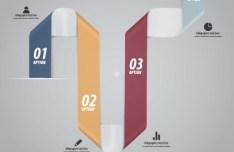 Minimal Infographics Data Option Elements Vector 04