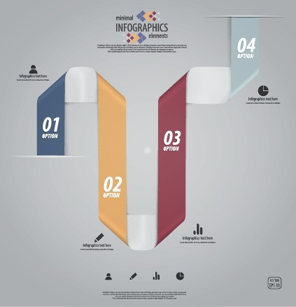 Minimal Infographics Data Option Elements Vector 04