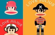 Paul Frank I Love Julius Vector Illustration