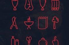 BBQ Icon Set Vector