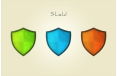 Colored Security Shield Icons Vector