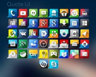 Quote UI Icon Set