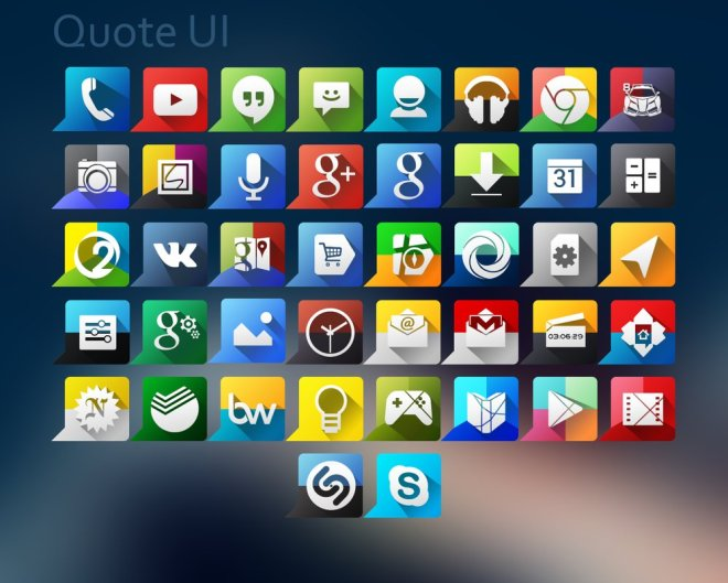 Quote UI Icon Set