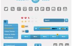 Clean Blue UI Kit PSD