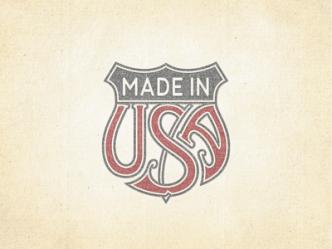 Made In USA Trade Emblem Vector