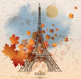 Autumn Eiffel Tower Paris