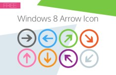 Windows 8 Arrow Icons Vector
