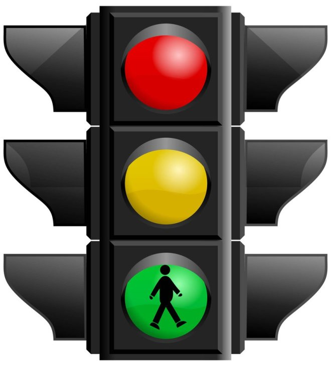 Glossy Traffic Signal Light Vector