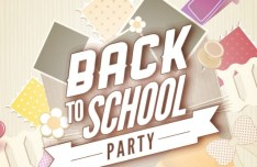 Back To School Party Flyer Template Vector