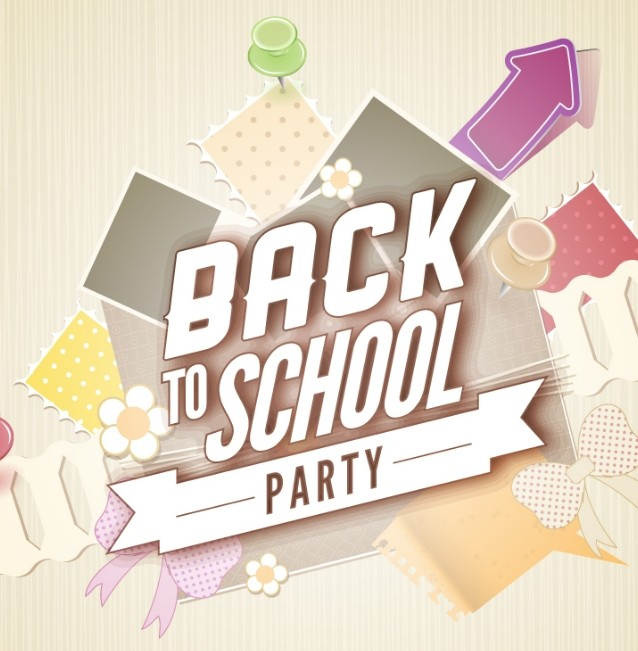Free Back To School Party Flyer Template Vector Titanui