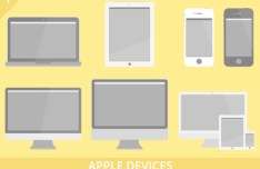 Apple Devices Vector Set
