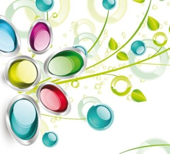Colorful Spring Glossy Flower Background Vector 01