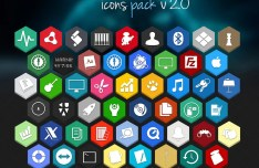 Flat Hexagon Icons Pack