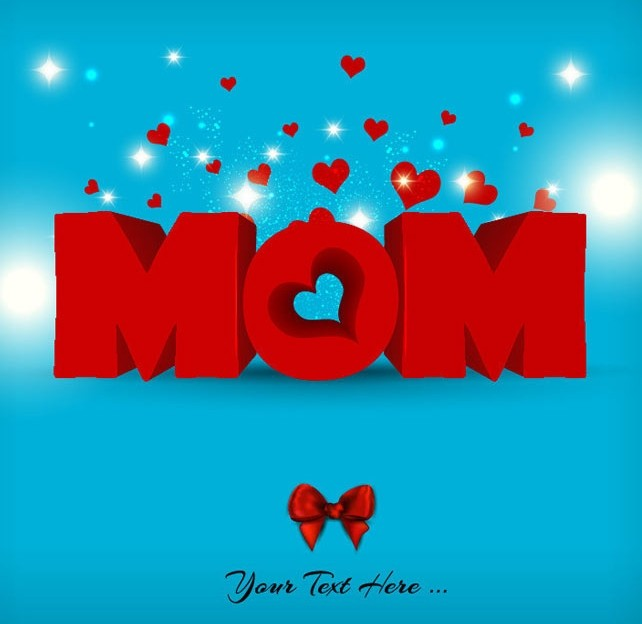 Creative Red Mother's Day Card Vector