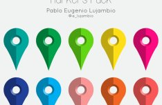 Colorful Map Marker Set Vector