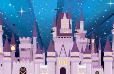Vector Cartoon Disney Castle