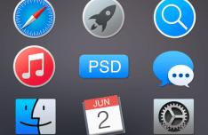 Mac OS X Yosemite App Icons PSD