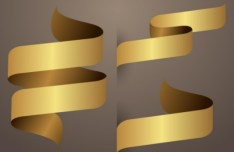 Sleek Golden Ribbon Design Vector