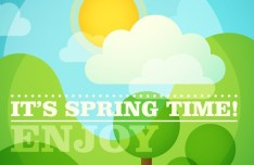 Enjoy Spring Time Vector Illustration
