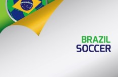 Brazil FIFA World Cup Curled Paper Background Vector