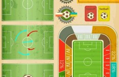 Elegant Soccer Infographic Design Elements