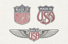 US Trade Emblems Vector