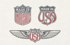 US Trade Emblems Vector